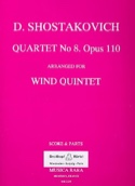 Quartet n° 8 op. 110 arr. for Wind Quintet - Score + Parts laflutedepan.com