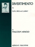 Divertimento -Flute oboe clarinet Malcolm Arnold laflutedepan.com