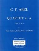 Quartet in A major op. 12 n° 2 – Flute (oboe) violin viola cello - Parts laflutedepan.com