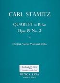 Quartet B flat maj. op. 19 n° 2 -Clarinet violin viola cello laflutedepan.com