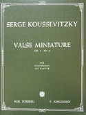 Valse miniature op. 1 n° 2 Serge Koussevitzky laflutedepan.com
