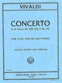 Concerto in B minor RV 580 (op. 3 n° 10) – 4 Violins piano laflutedepan.com