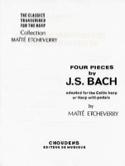 4 Pièces de Bach adapt pour harpe celtique BACH laflutedepan.com