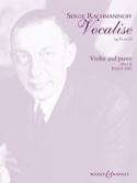 Vocalise op. 34 n° 14 RACHMANINOV Partition Violon - laflutedepan.com