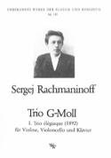 Trio Elégiaque en Sol Min 1892 RACHMANINOV Partition laflutedepan.com