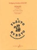 Sonate KV 448 -2 Flûtes et piano MOZART Partition laflutedepan.com