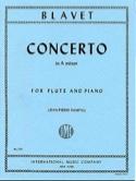 Concerto in A minor - Flute piano Michel Blavet Partition laflutedepan