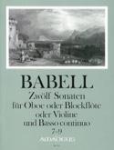 12 Sonates Volume 3 - 7 A 9 - Hautbois et Bc - laflutedepan.com