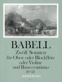 12 Sonates Volume 4 - 10 A 12 - Hautbois et Bc - laflutedepan.com