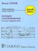 Aide-Mémoire Musique Contemporaine Bruno Giner Livre laflutedepan.com