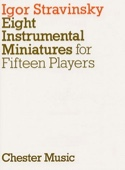 8 Instrumental miniatures - Score STRAVINSKY Partition laflutedepan