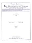 Menuet et Gigue BACH Partition Violon - laflutedepan.com
