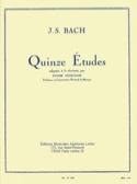 15 Etudes - Clarinette BACH Partition Clarinette - laflutedepan.com