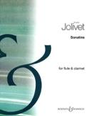 Sonatine - Flûte clarinette André Jolivet Partition laflutedepan.com