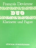 Duo n° 6 - Klarinette Fagott François Devienne laflutedepan.com