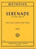 Serenade op. 25 D major -Flute violin viola - Parts laflutedepan.com