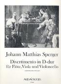Divertimento in D-Dur -Flöte Viola Violonc. - Stimmen laflutedepan.com