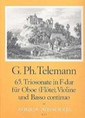 Triosonate Nr. 65 in F-Dur -Oboe Violine Bc TELEMANN laflutedepan.com