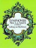 Symphonies N° 1, 2, 3 & 4 BEETHOVEN Partition laflutedepan.com