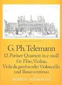 12. Pariser Quartett in e-moll Georg Philipp Telemann laflutedepan.com