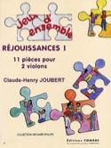 Réjouissances 1 Claude-Henry Joubert Partition laflutedepan.com
