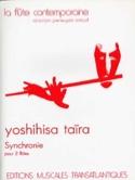 Synchronie - 2 Flûtes Yoshihisa Taïra Partition laflutedepan.com