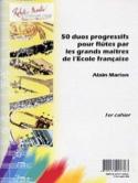 50 Duos progressifs pour flûtes Alain Marion laflutedepan.com