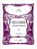 Pièces Classiques Volume 3 – Alto - Frédéric Lainé - laflutedepan.com