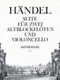 Suite - Altblockflöten u. Violoncello HAENDEL laflutedepan.com