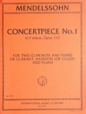 Concertpiece N° 1 Op. 113 -2 Clarinettes Piano laflutedepan.com