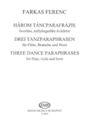3 Tanzparaphrasen -Flöte Bratsche Horn - Partitur + Stimmen laflutedepan.com
