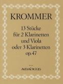 13 Stücke op. 47 -2 Klarinetten u. Viola o. 3 Klarinetten - Stimmen laflutedepan.com