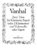 2 Trios - Klarinette Fagott Violoncello - Stimmen laflutedepan.com