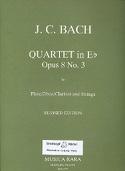 Quartet in Eb major op. 8 n° 3 –Flute Strings - Parts laflutedepan.com