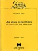 10 Duos concertants Claude-Henry Joubert Partition laflutedepan.com