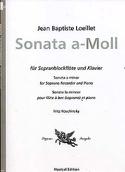 Sonate en la mineur - fl. à bec soprano piano LOEILLET laflutedepan