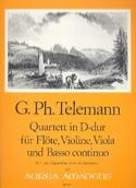Quartett D-Dur -Flöte Violine Viola BC TELEMANN laflutedepan.com
