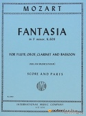 Fantasia in F minor KV 608 - Flute oboe clarinet bassoon - Score + parts laflutedepan.com