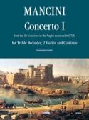 Concerto 1 –flauto 2 violini e bc Francesco Mancini laflutedepan.com
