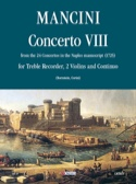Concerto 8 –flauto 2 violini e bc Francesco Mancini laflutedepan.com