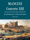 Concerto 13 –flauto 2 violini e bc Francesco Mancini laflutedepan.com