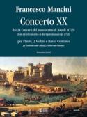 Concerto 20 –flauto 2 violini e bc Francesco Mancini laflutedepan.com