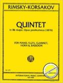 Quintet Bb major op. posth. 1876 -piano flute clarinet horn bassoon laflutedepan.com