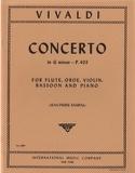 Concerto G minor P. 403 - Flute oboe violin bassoon piano laflutedepan.com