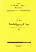 Praeludium and Fuga BWV 849 - 2 oboes, english horn, 2 bassoons laflutedepan.com