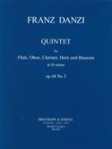 Quintet D minor op. 68 n° 3 -Parts Franz Danzi laflutedepan.com