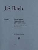 6 Suiten BWV 1007-1012 - Violoncello Solo BACH Partition laflutedepan