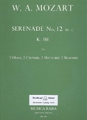 Serenade n° 12 in c minor KV 388 - Wind octet - Parts laflutedepan.com