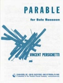 Parable for solo Bassoon - Vincent Persichetti - laflutedepan.com