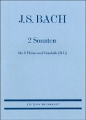 2 Sonaten - 2 Flöten Cembalo Bc BACH Partition laflutedepan.com